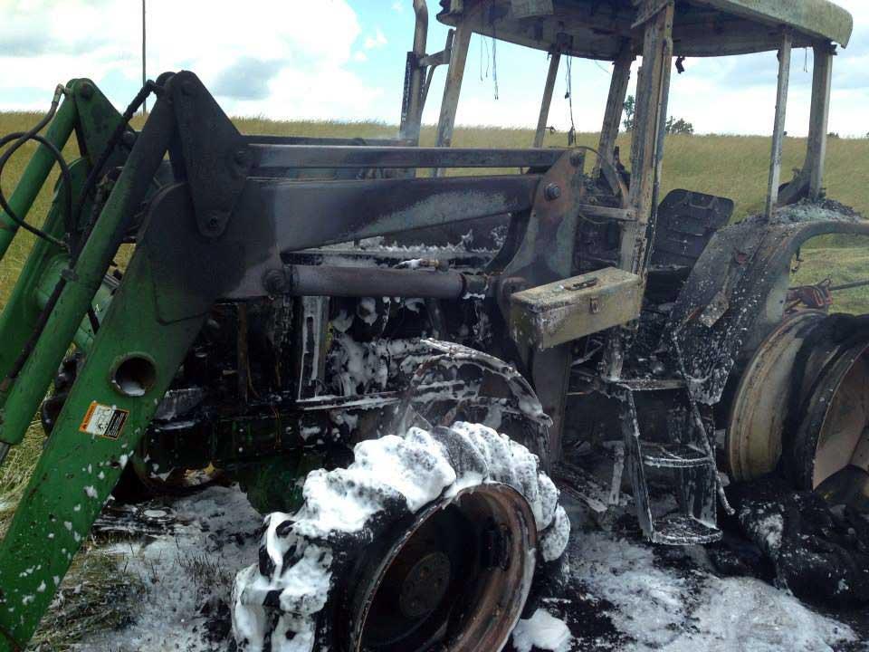 Burnt Tractor